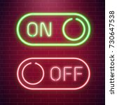 on and off lamp neon light... | Shutterstock .eps vector #730647538