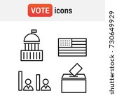 voting and elections linear... | Shutterstock .eps vector #730649929