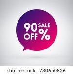 90  offer label sticker  sale... | Shutterstock .eps vector #730650826