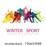 color sport background. hockey  ... | Shutterstock .eps vector #730653988