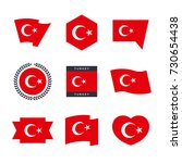 turkey flag vector icons and... | Shutterstock .eps vector #730654438