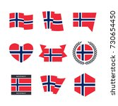 norway flag vector icons and... | Shutterstock .eps vector #730654450