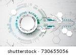 vector illustration  hi tech... | Shutterstock .eps vector #730655056
