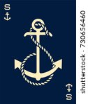 vintage label with an anchor...   Shutterstock .eps vector #730656460