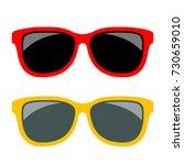 sun glasses vector icon... | Shutterstock .eps vector #730659010