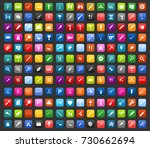 tools icons | Shutterstock .eps vector #730662694