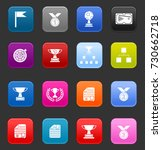 winner icons | Shutterstock .eps vector #730662718