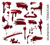 blood splatters on isolated...   Shutterstock .eps vector #730663168