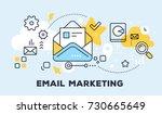 vector illustration of open... | Shutterstock .eps vector #730665649