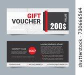 gift voucher vector background... | Shutterstock .eps vector #730666564