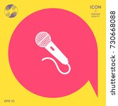 microphone icon | Shutterstock .eps vector #730668088