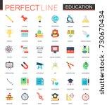 vector set of flat education... | Shutterstock .eps vector #730670434