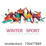 color sport background. hockey  ... | Shutterstock .eps vector #730677889