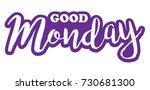 good monday | Shutterstock .eps vector #730681300