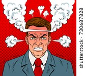 angry man with boiling head pop ... | Shutterstock . vector #730687828