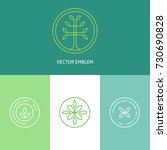 set of logo templates and... | Shutterstock .eps vector #730690828