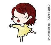 cute cartoon vampire girl | Shutterstock .eps vector #730691860