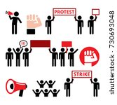 protest  strike  people... | Shutterstock .eps vector #730693048