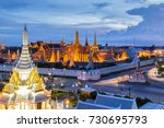 wat phra keaw and grand palace...   Shutterstock . vector #730695793