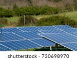 photovoltaic plant in a... | Shutterstock . vector #730698970