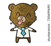 rude cartoon bear boss | Shutterstock .eps vector #730699690