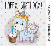 greeting card cute cartoon... | Shutterstock . vector #730702450