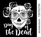 day of the dead woman with... | Shutterstock .eps vector #730702750