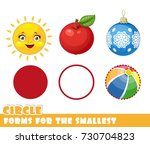 forms for the smallest. circle... | Shutterstock .eps vector #730704823