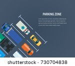 city car parking zone concept.... | Shutterstock .eps vector #730704838