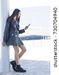full length portrait of a... | Shutterstock . vector #730704940