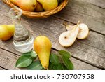 fruit pears on the table with... | Shutterstock . vector #730707958
