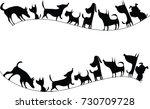 Stock vector dog design set 730709728