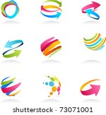 abstract ribbons and arrows... | Shutterstock .eps vector #73071001