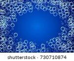 soap foam on gradient... | Shutterstock .eps vector #730710874