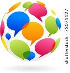 global communication concept...   Shutterstock .eps vector #73071127