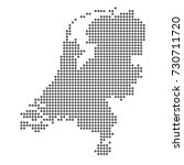 netherlands country map vector | Shutterstock .eps vector #730711720
