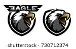 head of the eagle  sport logo....   Shutterstock . vector #730712374