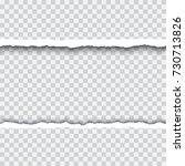 torn paper realistic vector... | Shutterstock .eps vector #730713826