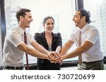 group of employees with their... | Shutterstock . vector #730720699