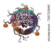 vector illustration  happy... | Shutterstock .eps vector #730732840