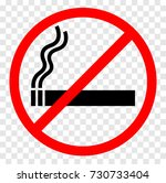 no smoking sign. round red no... | Shutterstock .eps vector #730733404