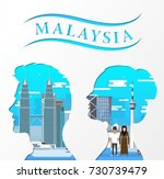 travel infographic. malaysia ... | Shutterstock .eps vector #730739479