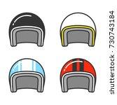 Vintage Motorcycle Helmet  Lin...