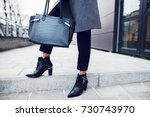 fashionable woman posing in... | Shutterstock . vector #730743970