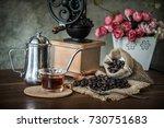 coffee in the morning. still... | Shutterstock . vector #730751683