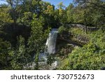 minnehaha waterfall in... | Shutterstock . vector #730752673