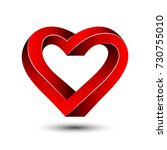 heart abstract impossible... | Shutterstock .eps vector #730755010