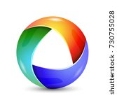 abstract infinite loop circle... | Shutterstock .eps vector #730755028