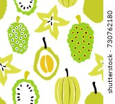 abstract colorful fruits... | Shutterstock .eps vector #730762180