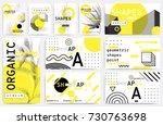 universal trend posters set... | Shutterstock .eps vector #730763698